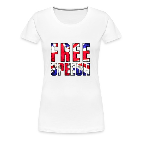Free Speech UK - Women's Premium T-Shirt