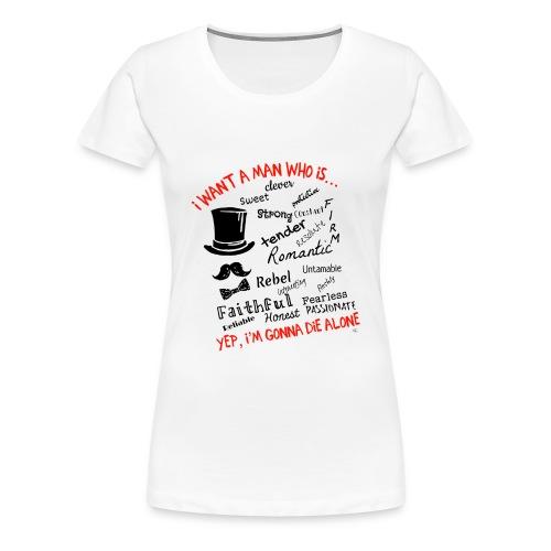 Lettering - Maglietta Premium da donna