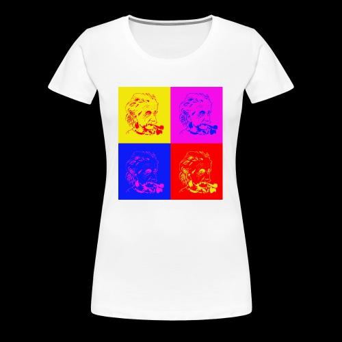 Albert Einstein x 4 - Frauen Premium T-Shirt