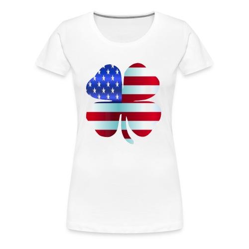 Irish American shamrockSt Patrick's Day Design - Women's Premium T-Shirt