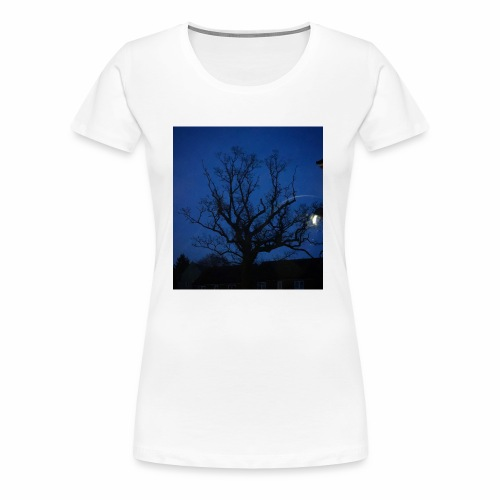 tree night sky - Women's Premium T-Shirt