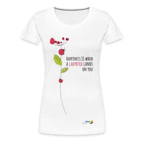 Ladybird Women's T-Shirt - white and ecru - Women's Premium T-Shirt