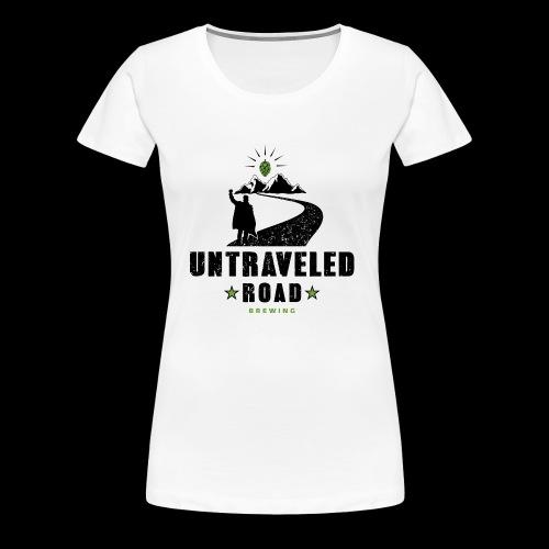 Untraveled Road Logo - schwarz/grün - Frauen Premium T-Shirt