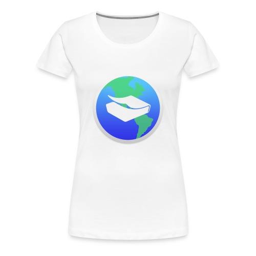 kaeru world icon - Women's Premium T-Shirt