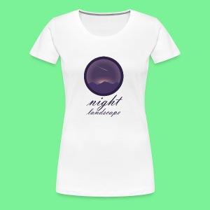 Landschaft bei Nacht - Frauen Premium T-Shirt