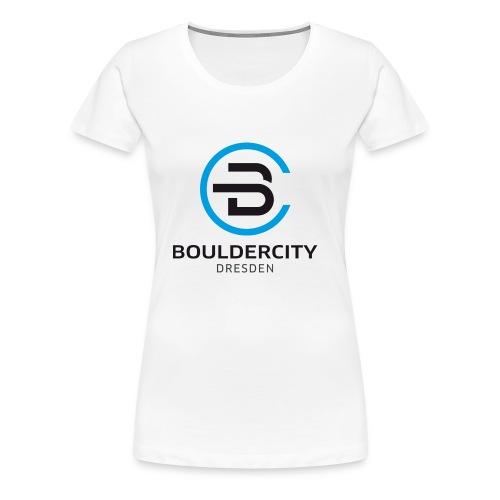 Bouldercity Dresden Blau Schwarz - Frauen Premium T-Shirt