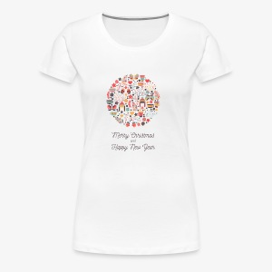 Merry Christmas and Happy New Year - T-shirt Premium Femme
