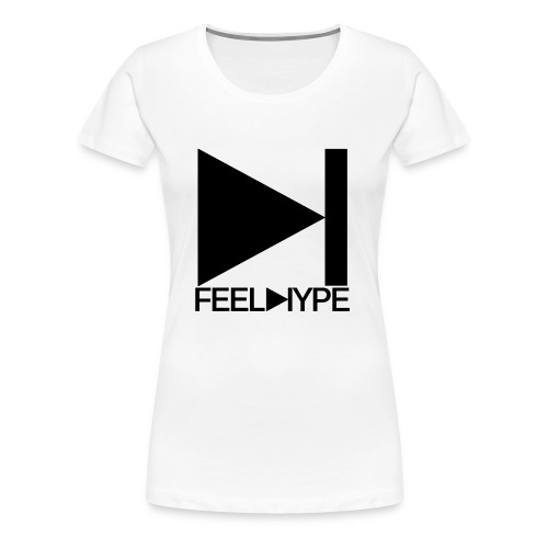 Feel Hype Logo Schwarz - Frauen Premium T-Shirt