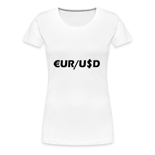 EUR/USD - Frauen Premium T-Shirt
