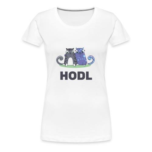 Kitty HODL - Women's Premium T-Shirt