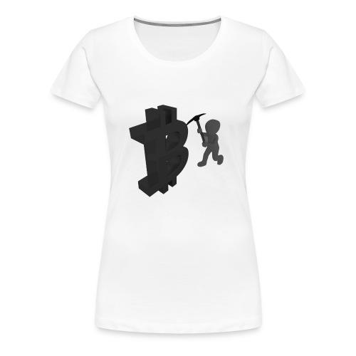 BitCoin Miner Schwarz - Frauen Premium T-Shirt