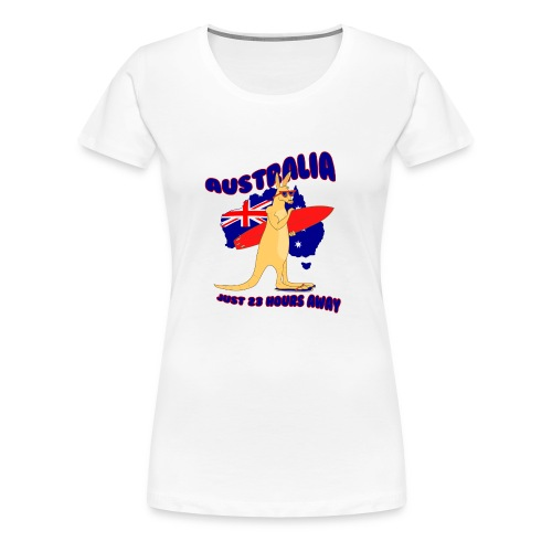 Surfing Kangaroo Australia - Frauen Premium T-Shirt