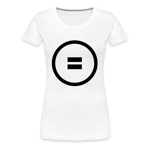 Gleich Zeichen - Frauen Premium T-Shirt