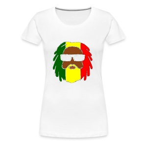 AFROJAZZ RED-GOLD-GREEN - T-shirt Premium Femme