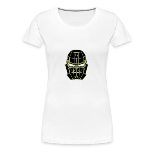 masque espace jaune - T-shirt Premium Femme
