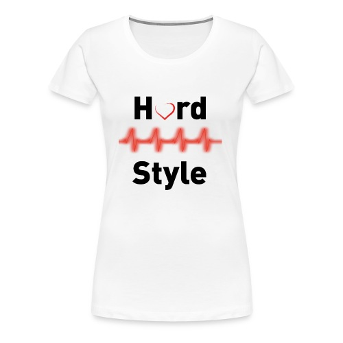 Hardstyle Heartbeat black - Frauen Premium T-Shirt