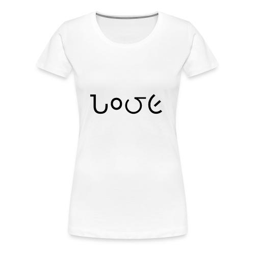 Love schrift schwarz - Frauen Premium T-Shirt