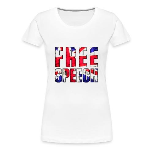 Free Speech UK - Women's Premium T-Shirt