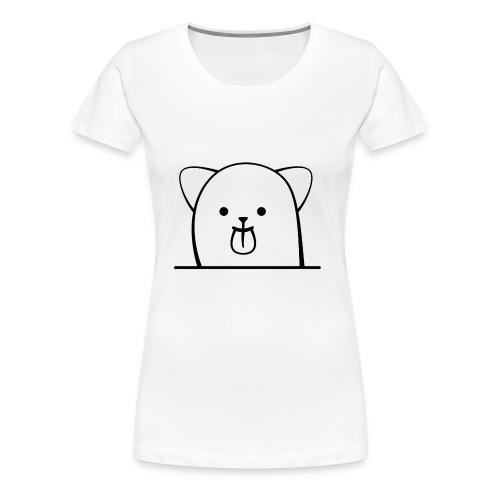Cartoon Katze streckt frech die Zunge - Frauen Premium T-Shirt