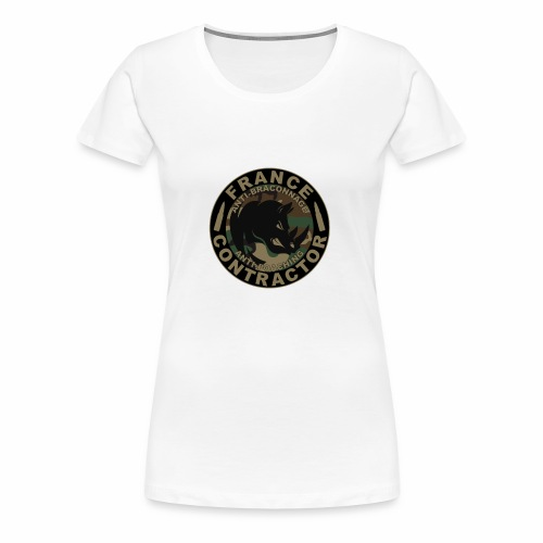France contractor logo anti poaching opérateur - T-shirt Premium Femme