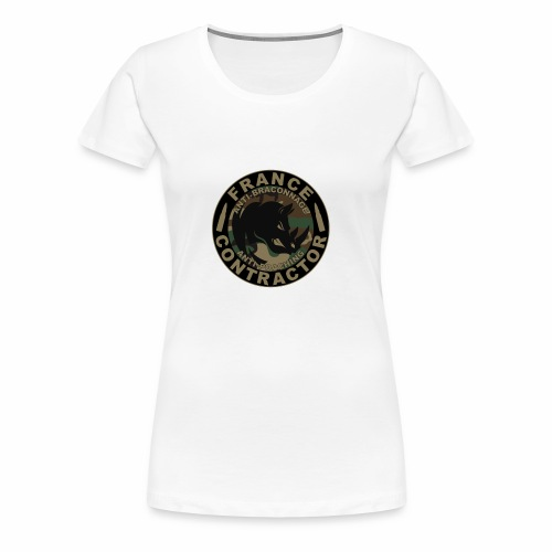 France contractor logo anti poaching opérateur - T-shirt Premium Femme