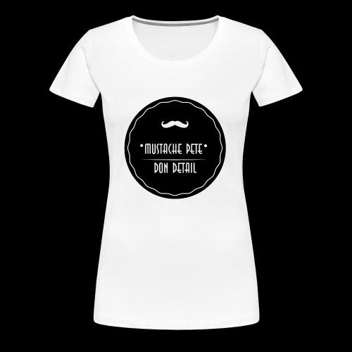 Mustache Pete Logo 1 - Frauen Premium T-Shirt