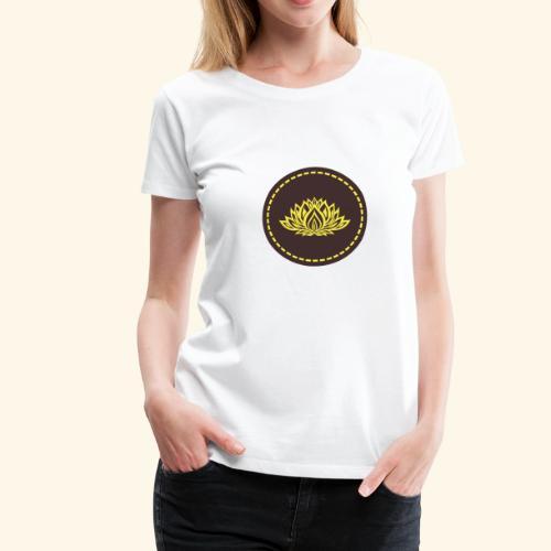 Mandala lotus marron jaune - T-shirt Premium Femme