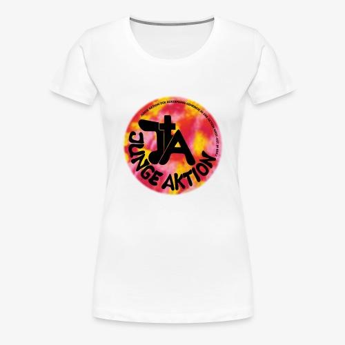 LLENA orange schwarz - Frauen Premium T-Shirt
