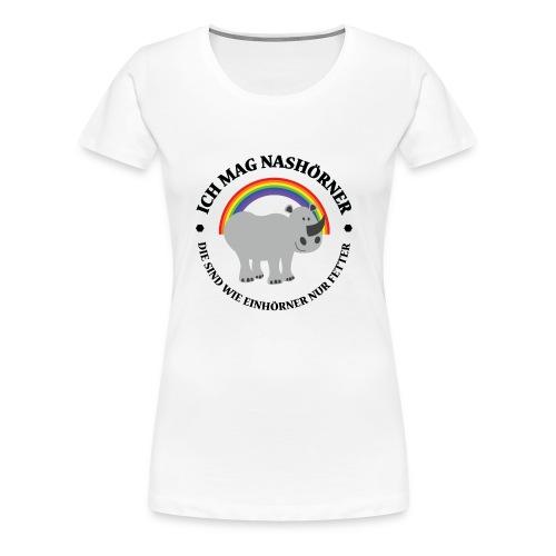 Ich mag Nashörner - Frauen Premium T-Shirt