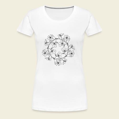 Blütenkreis - Frauen Premium T-Shirt