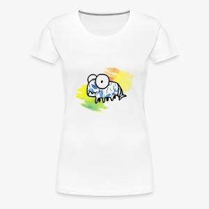 dziwny stworek akwarele - Koszulka damska Premium