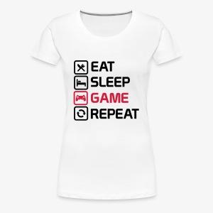 eat sleep game repeat - Women's Premium T-Shirt