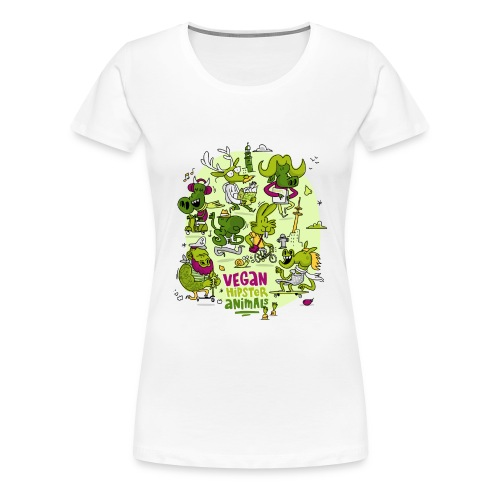 Vegan Hipster Animals - Frauen Premium T-Shirt