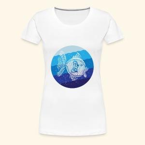 Stripey Sweetlips Fish Retro - Women's Premium T-Shirt