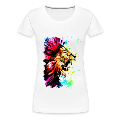 Löwenkopf aquarell - Frauen Premium T-Shirt