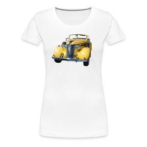 Gele klassieke auto1920 - Vrouwen Premium T-shirt