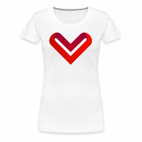 Coeur de V - T-shirt Premium Femme