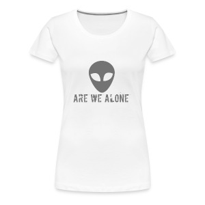 Are we alone logo - Women's Premium T-Shirt