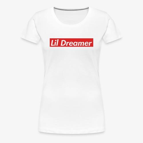 Lil Dreamer - Red Box Design - Women's Premium T-Shirt