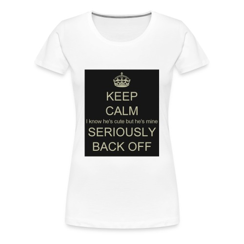 He is mine tanktop - Dame premium T-shirt