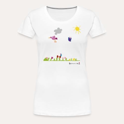 Blumenwiese von Marie - Frauen Premium T-Shirt