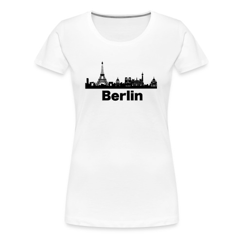 Verwirrende T-Shirts Berlin Paris Skyline - Frauen Premium T-Shirt