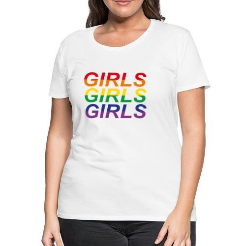 Girls x3 no. 2 - Premium-T-shirt dam