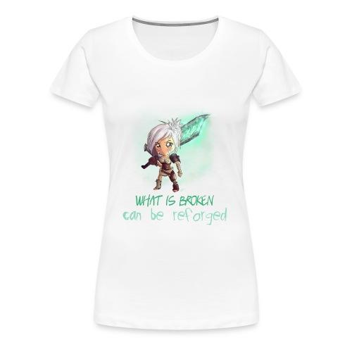 Chibi Riven con scritta DONNA - Maglietta Premium da donna