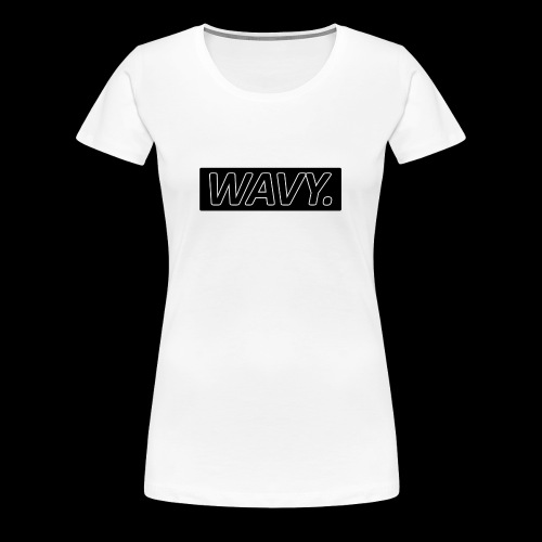 BLACK WAVY. RECTANGLE - T-shirt Premium Femme