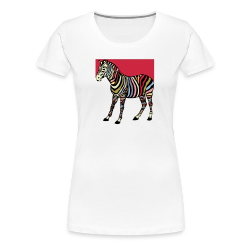 zebra tshirt design - Women's Premium T-Shirt