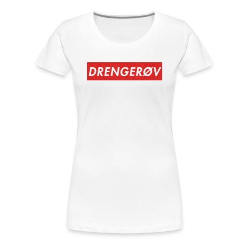 Drengerøv Box Logo Trøje - Dame premium T-shirt
