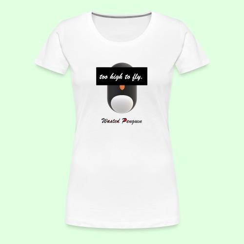 W. Penguin Pure Logo - Frauen Premium T-Shirt
