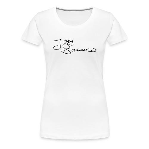 JoeyBamuco Black Signature - Naisten premium t-paita