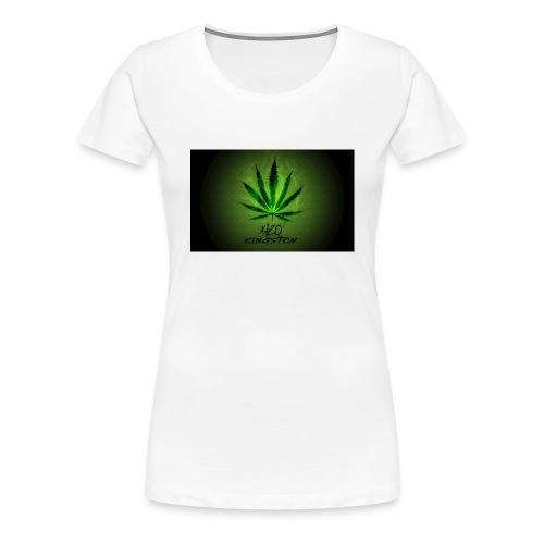420 hash logo - Dame premium T-shirt